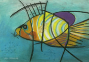 Childrens Art Drawings - Fishfish by Patty Van Sprang