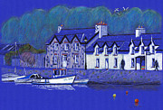 Sailboats Drawings - Fishguard by Lynn Blake-John