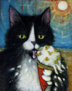 Licking Ice Cream Posters - Fishies n Cream Poster by Heidi Shaulis