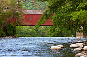 Covered Bridge Acrylic Prints - Fishin Acrylic Print by Bill  Wakeley