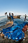 Fishing Net Framed Prints - Fishing - 3 Framed Print by Okan YILMAZ