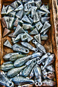 Salt Water Prints - Fishing - Box of Sinkers Print by Paul Ward