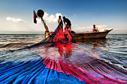 Nebule Framed Prints - Fishing - 11 Framed Print by Okan YILMAZ
