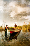 Nebule Framed Prints - Fishing - 13 Framed Print by Okan YILMAZ