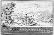 18th Century Prints - Fishing, 18th Century Print by Granger