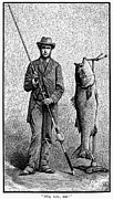 19th Century America Prints - FISHING, 19th CENTURY Print by Granger