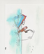 Caricature Drawings - Fishing 21 by Alex Aleshichev