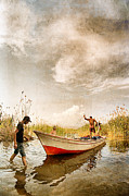 Reed Bed Prints - Fishing - 8 Print by Okan YILMAZ