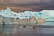 Icebergs Photos - Fishing Among Giants by Robert Lacy
