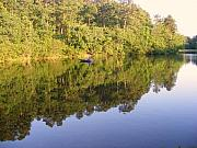 Foothill Prints - Fishing at Lake Oconee Print by Elena Tudor