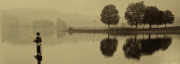 Fishing Photo Originals - Fishing At Marsh Creek State Park Pa. by Jack Paolini