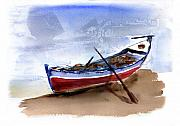 Boat Mixed Media Framed Prints - Fishing Boat Framed Print by Anselmo Albert Torres