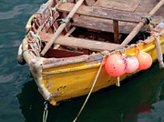 Ropes Photo Prints - Fishing Boat Print by Carlos Caetano