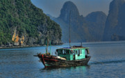 Ha Long Posters - Fishing Boat Poster by Chuck Kuhn