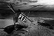 Beached Photos - fishing boat FE371 by Meirion Matthias