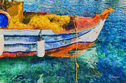 Rossidis Paintings - Fishing boat by George Rossidis