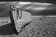 Wooden Boat Photo Framed Prints - Fishing Boat Graveyard 2 Framed Print by Meirion Matthias