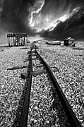 Shed Prints - Fishing Boat Graveyard 6 Print by Meirion Matthias