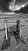 Stormy Clouds Framed Prints - Fishing Boat Graveyard 8 Framed Print by Meirion Matthias