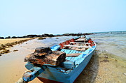 Canoe Pyrography Metal Prints - Fishing boat Metal Print by Jacques Van Niekerk