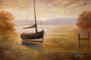East Tennessee Paintings - Fishing Boat by Jonathan Howe