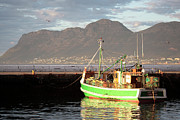 Begin Framed Prints - Fishing Boat Kalk Bay Framed Print by Neil Overy