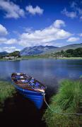 Water Vessels Posters - Fishing Boat On Upper Lake, Killarney Poster by Gareth McCormack