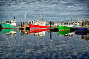 Macmillan Framed Prints - Fishing boat reflections at MacMillan Pier in Provincetown Cape  Framed Print by Matt Suess