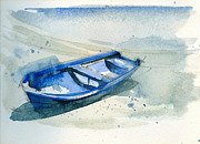 Stephanie Aarons Painting Metal Prints - Fishing Boat Metal Print by Stephanie Aarons