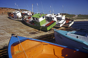 Fishing Boats - Magdalen Islands Print by Carol Barrington