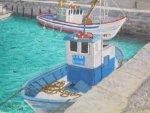 Tarifa Posters - Fishing Boats - Tarifa Spain Poster by Jack McKenzie