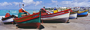 Beached Photos - Fishing Boats at Arniston by Jeremy Woodhouse