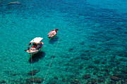 Northeastern Aegean Islands Prints - Fishing boats  Print by Emmanuel Panagiotakis