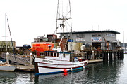 Fishing Boats In Pillar Point Harbor At Half Moon Bay California . 7d8210 Print by Wingsdomain Art and Photography