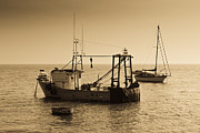 Trawler Metal Prints - Fishing Boats Leigh on sea Metal Print by David Pyatt