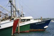 Fishing Boats Prints - Fishing Boats  Montauk Print by Christopher Kirby
