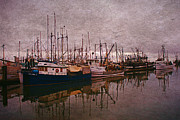 Computer Altered Prints - Fishing Boats of Steveston-CA Print by Randy Harris