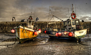 Trawler Metal Prints - Fishing boats on the cobb Metal Print by Rob Hawkins
