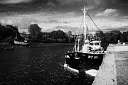 Trawler Metal Prints - Fishing Boats On The Quay At The River Lennon Ramelton County Donegal Republic Of Ireland  Metal Print by Joe Fox