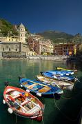 Row Boat Prints - Fishing Boats, Vernazza, Cinque Terre Print by John Sylvester