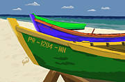 Puerto Rico Digital Art - Fishing Boats by Yiries Saad