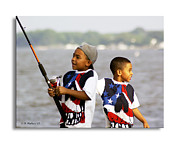 Reeling Photo Posters - Fishing Brothers Poster by Brian Wallace