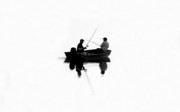 Two Fishing Men Prints - Fishing Buddies Print by David Lee Thompson
