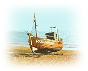 Trawler Metal Prints - Fishing Fleet Metal Print by Sharon Lisa Clarke