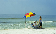 Florida Panhandle Prints - Fishing For Fun Print by Heiko Koehrer-Wagner