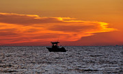 Deep Sea Fishing Framed Prints - Fishing for Sunset Framed Print by David Lee Thompson