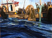 Tall Ships. Marine Art Paintings - Fishing In Its Hey-day by Phil Cusumano