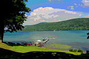Otsego Lake Posters - Fishing In Otsego Poster by Bob Whitt