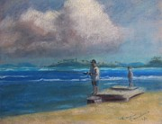 Rico Pastels - Fishing in Puerto Rico by Karen Sanabria