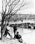 Ev-in Framed Prints - Fishing In The Bronx River,  New York Framed Print by Everett